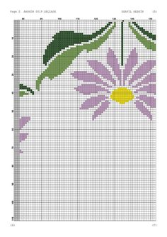 Cross Stitch, Color, Cross Stitch Rose, Cross Stitch Embroidery, Cumin Plant, Railings, Floral, Flower Chart, Table Toppers