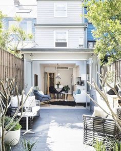"""This renovated terrace is a reflection of the changing face of #Redfern – now a fresh and fantastic area to live in close proximity to Carriageworks, the city, cafes and restaurants. """"The owners designed and project managed the renovations themselves,"""" says Megan Mallon of @bresicwhitney. """"With precision and attention to detail, this three-level home is both an entertainer's dream as well as an urban retreat for a young family."""" See more of 135 Little Eveleigh Street, Redfern on Domain."""
