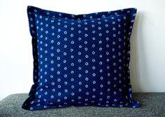 Indigo blue pillow Navy tie dye cotton cushion by ThePillowBook, $28.00 Navy Pillows, Throw Pillows, Ethnic Decor, Asian Design, Blue Tie Dye, Indigo Blue, Tribal Jewelry, Boho Style, Bling Bling