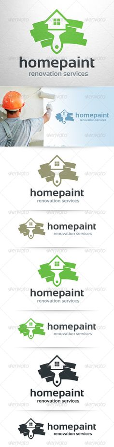 Home Painter  - Logo Design Template Vector #logotype Download it here: http://graphicriver.net/item/home-painter-logo-template/8523715?s_rank=676?ref=nexion