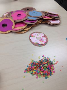 Doughnut door decs because who doesn't love doughnuts?? I used stencil O's so it didn't take long