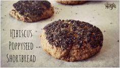 Hibiscus Poppyseed Shortbread Cookies - Morsels and Moonshine #vegan #dairyfree