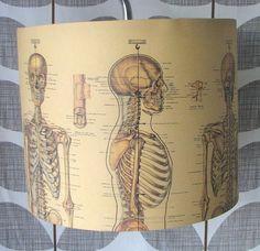 vintage skeleton handmade lampshade by rosie's vintage lampshades   notonthehighstreet.com
