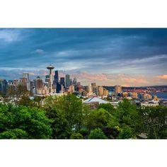 Noir Gallery Seattle Skyline View at Sunset Fine Art Photo Print