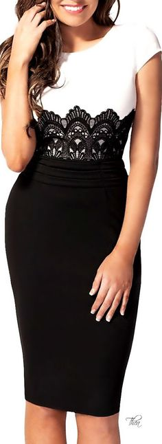 Bodycon Pencil Dress Imagine wearing this to the rehearsal dinner. Skirt Outfits, Dress Skirt, Lace Dress, Bodycon Dress, Maxi Skirts, Lace Maxi, Trendy Dresses, Cute Dresses, Beautiful Dresses