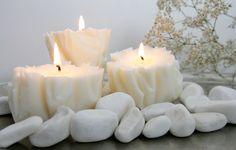 Idee Diy, Pillar Candles, Tea Lights, Diy Projects, Crafts, Zero Waste, Christmas Ideas, Diy Ideas, Manualidades