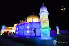 세계 3대 겨울 축제 중 하나이자, 눈과 얼음으로 만든 초대형 세계문화유산 및 건축물들이 빛과 어우러지는 '하얼빈 빙설대세계'를 평창에서 만날 수 있는 <평창 알펜시아 하얼빈 빙설 대세계>