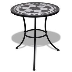 Outdoor Bistro Table Mosaic Blue Tile Top Round Patio Deck Yard Dining Garden for sale online Garden Coffee Table, Teak Coffee Table, Garden Table, Table Mosaic, Ceramic Table, Patio Furniture Sets, Garden Furniture, Outdoor Furniture, Furniture Design