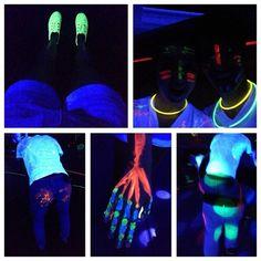 black light party | Tumblr