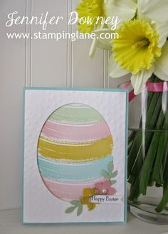 Jennifer Downey & Stampin' Up! www.stampinglane.com  Work of Art, Teeny Tiny Wishes, Easter, Card