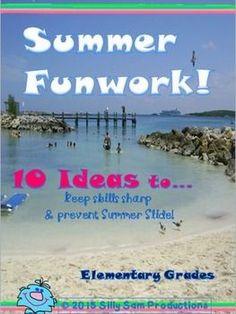 """I added """"SUMMER FUNWORK! 10 GREAT IDEAS! """" to an #inlinkz linkup!https://www.teacherspayteachers.com/Product/Summer-FUNWORK-10-Great-Ideas-1886954"""