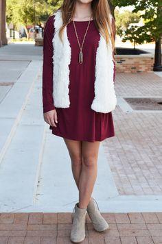 Shag Faux Fur Vest in Ivory :: $28 :: shaggy faux-fur vest, ivory fake fur, vest with pockets :: Groovys.com