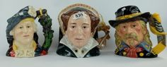 Collectors & General Auction – Lot 530 – Royal Doulton large character jugs General Custer D7079, Bonnie Prince Charlie D6858 and Queen Mary 1 D7188 (3).  Sold for £55.00