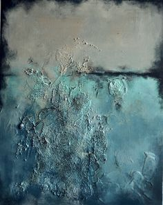 Ocean Textures Original Abstract Painting Heavy by Natureandart, $210.00