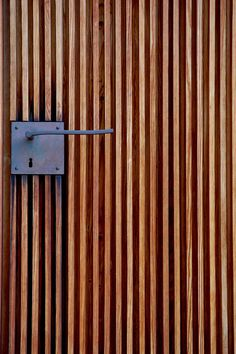 Peter Zumthor - Door handle detail at the St. Bendict Chapel, Sumvitg 1989