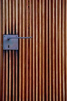 Door handle. Saint Benedict Chapel. 1988. Peter Zumthor. Sumvitg, Graubünden, Switzerland .