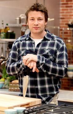 Jaime Oliver. Naked Chef host on Food Network, and the now cancelled Jamie Oliver's Food Revolution, cookbook author, restauranteur.