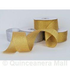 "Quinceanera Mall - 1.5"" Nylon Metallic Ribbon #RIB7"