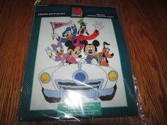 "CROSS STITCH KIT, ""CRUISIN MICKEY & THE GANG #MickeyUnlimited eBay item number:131569691963"