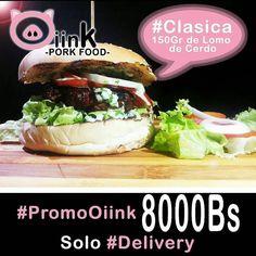 Directo a Tu casa llega @oiinkfood  Nuestra Atractiva #ClasicaOiink 150gr de lomo de cerdo lechuga tomate cebolla salsa tártara y BBQ Solo en tu restaurant #Delivery  #Venezuela#paraguana#puntofijo#oiinkfood#falcon#food.