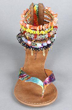 Zigi Shoes The Must Have Sandal in Turquoise Multi : Karmaloop.com - Global Concrete Culture