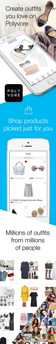 """What to buy? Polyvore shows you styles that match your taste from the top brands and retailers in the world.  How? Take our taste quiz and """"like"""" stuff you see. The more stuff you like, the smarter Polyvore becomes, and, like having your own personal shopper, you'll see results that are tailored to your unique style."""