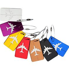 PIXNOR 7pcs Aluminum Travel Luggage Handbag Tag ID Label 7 Colors ** Want additional info? Click on the image.