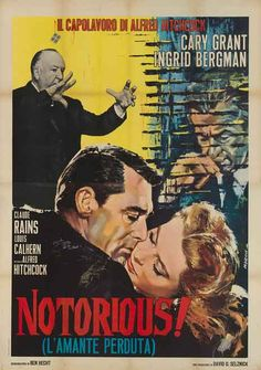 Theatrical poster, Alfred Hitchcock's 1946 classic, Notorious.