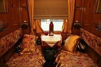 compartment on the Trans-Siberian