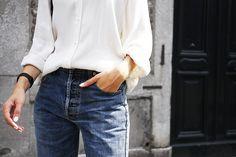 H&M blouse dress   Vintage Levi's   Newbark sandals Kara backpack    Larsson & Jennings watch  Anna Lawska necklace (finally available!)