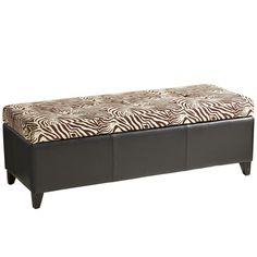 Zahir Storage Bench - Kenya Zebra