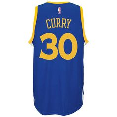add021a4e Men s Golden State Warriors Stephen Curry adidas Royal Player Swingman Road  Jersey