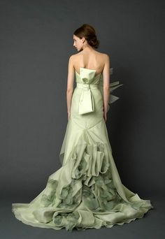 New trend: Colored wedding gowns by margie