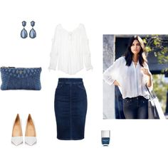 Denim spring set by besyata on Polyvore featuring мода, Michael Kors, Citizens of Humanity, Christian Louboutin, Miu Miu, Kenneth Jay Lane, Nails Inc. and H&M