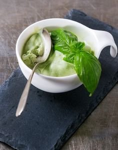 If you have a lot of basil to contend with. Here are some fresh basil recipes that go beyond the norm and help the fresh basil flavor last all year. Fresh Basil Recipes, Herb Recipes, Cooking Recipes, Cooking Tips, Preserving Basil, Basil Ice Cream, Good Food, Yummy Food, Cocktail