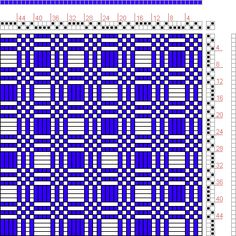 Hand Weaving Draft: Figure 427, A Manual of Weave Construction, Ivo Kastanek, 2S, 2T - Handweaving.net Hand Weaving and Draft Archive