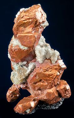 Quartz, Calcite and Epidote crystals on Native Copper - Michigan