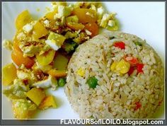 Salted egg with Century tuna fried rice
