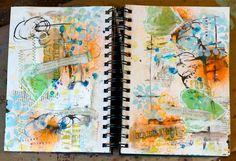 beautiful, messy journal page
