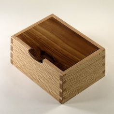 Keepsake Box, Oak And Black Walnut