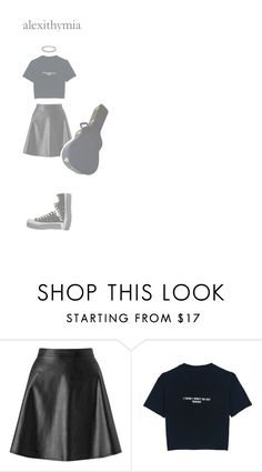 """""""alexithymia"""" by weirdestgirlever ❤ liked on Polyvore featuring Miss Selfridge, WithChic and Converse"""