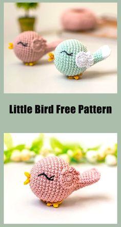 Easter Crochet Patterns, Crochet Birds, Crochet Patterns Amigurumi, Cute Crochet, Crochet Crafts, Crochet Dolls, Crochet Projects, All Free Crochet, Crochet Animals