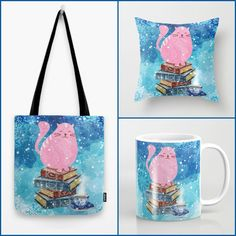 With Love for Books: Birthday Giveaway 2: Cat & Books Tote Bag, Mug & P...
