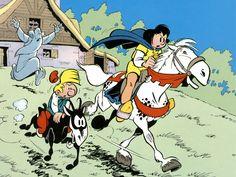 Johann und Pfiffikus, Johan et Pirlouit, Johan and Peewit Johan Et Pirlouit, Ligne Claire, Classic Cartoons, My Youth, Good Old, My Childhood, Smurfs, Comic Art, Illustrators