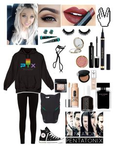 """Pentatonix concert..."" by emo-kyleigh ❤ liked on Polyvore featuring Fiebiger, Chloé, 7 For All Mankind, Converse, STELLA McCARTNEY, Marc Jacobs, Narciso Rodriguez, Essie, Clinique and L'Oréal Paris"