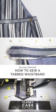 Sewing tutorial for a tabbed waistband on your Jenny trousers and shorts (click through for the tutorial).