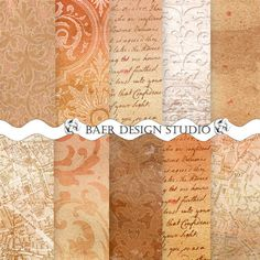 50% off:Digital Paper Watercolor, Damask Digital Paper, Brown Digital Paper, Peach Watercolor Digital Paper, Distressed Digital Paper,  Instant download, 8.5 x 11 inches and 12 x 12 inches,photo background paper.