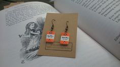 Penguin Book Dangle Earrings by Coryographies by Coryographies