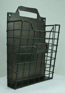 | Rustic Style  Wire   Pocket Organizer Letter Holder 7 ...
