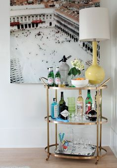 Open Display Bar Cart | photo Janis Nicolay | design Nancy Riesco | House & Home